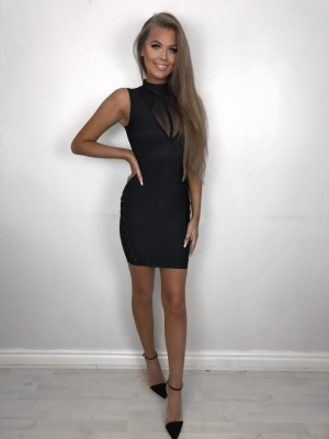 Ora black bandage dress