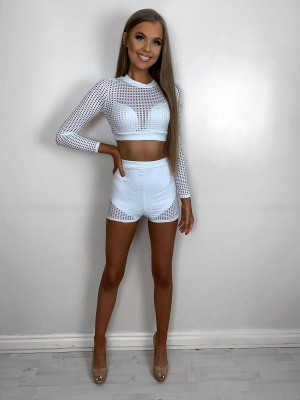 Nova white net 2 piece set