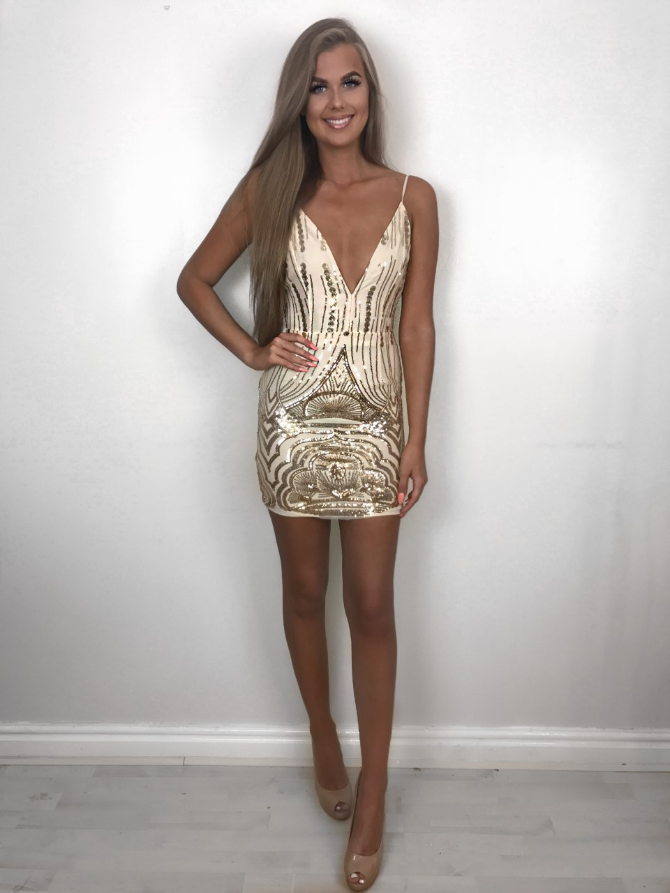 3b3b96eb0480 Georgia gold sequin dress - svlabel.com