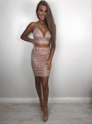 Poppy pink 2 piece set