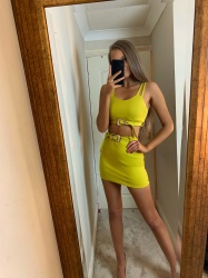 Martha mustard 2 piece set