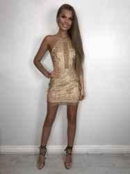 d8d676ec1d1c Emilia gold glitter dress - svlabel.com