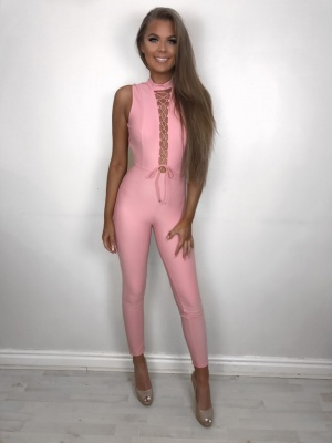 Megan pink detail jumpsuit
