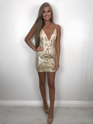 Georgia gold sequin dress