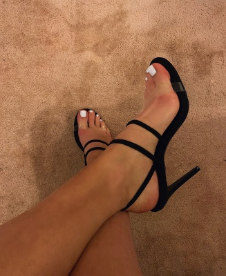 Aila black strappy shoes