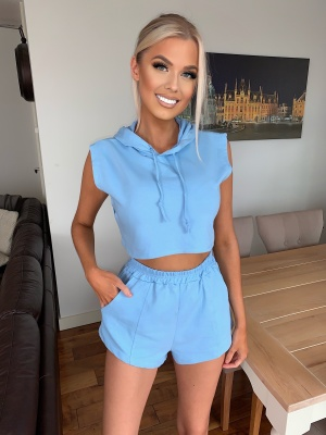 Klaudia sky blue 2 piece set