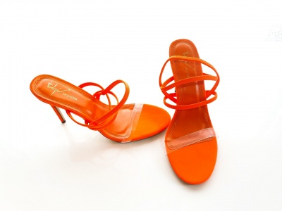 Aila orange strappy shoes