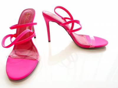 Aila pink strappy shoes