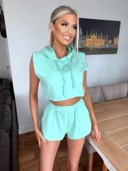 Klaudia mint green 2 piece set