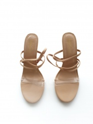 Aila nude strappy shoes